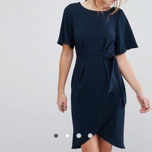ASOS Tie Front Kimono Sleeve Dress